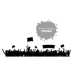 Cheering or protesting crowd vector