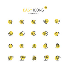 Easy icons 29d contacts vector