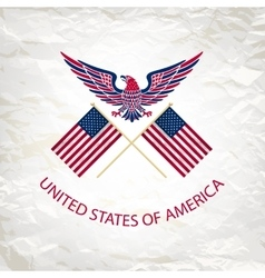 easy to edit of eagle with vector image vector image