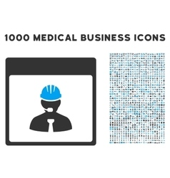 Engineer calendar day icon with 1000 medical vector