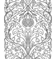 floral pattern for wallpaper vector image vector image