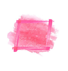magenta pink watercolor grunge frame vector image