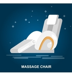 Massage chair detailed vector