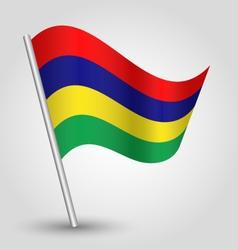 mauritian flag on pole vector image