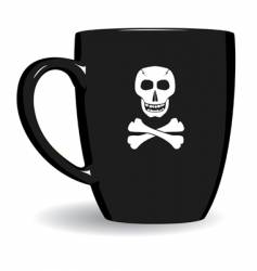 pirate mug vector image vector image