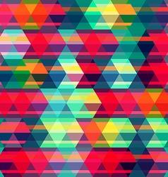 red rhombus seamless pattern vector image