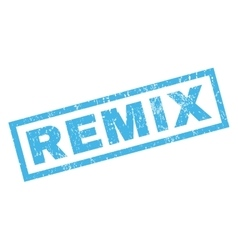 Remix rubber stamp vector