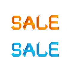 Sale origami style sign vector