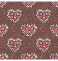 Seamless pattern with hearts openwork heart vector
