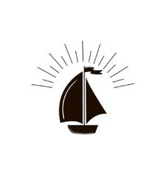 Ship boat icon vector image