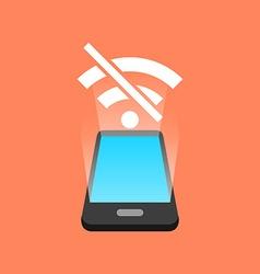 Smartphone no signal concept Isometric design vector image