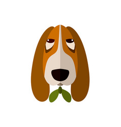 spaniel head icon in flat design vector image vector image