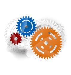 three cogwheels vector image