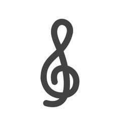 Treble clef vector