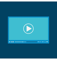 Video player for web flat design vector