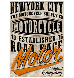 Vintage motorcycle poster t shirt graphic design vector