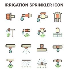 Water sprinkler icon vector