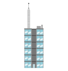 Single tall building icon vector