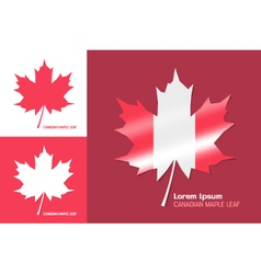 Canadian maple leaf symbol vector