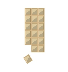 Candy white chocolate bar icon vector
