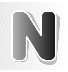 Letter n sign design template element  new vector