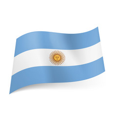 National flag of argentina central white stripe vector