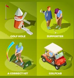 Golf 2x2 isometric design concept vector