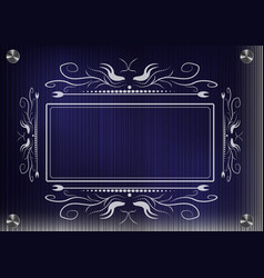 lacy frame for photography on a blue background vector image
