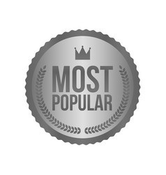 Most popular silver sign round label vector