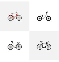 Realistic equilibrium exercise riding retro and vector