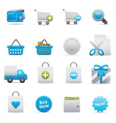 Shopping icons  indigo vector