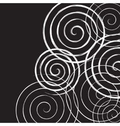 Black and white spirals background vector