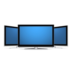 Three plasma lcd tv vector