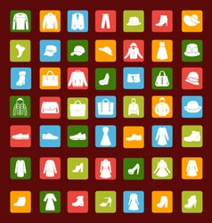 Set icon of men and women fashion clothing vector