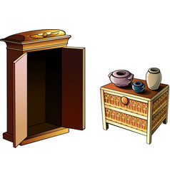 Egyptian furniture vector