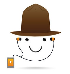 Smile music hat vector