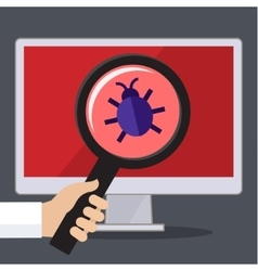 Concept of searching bugs and viruses vector