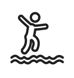 Jumping in water vector