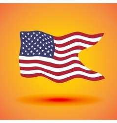 a waving flag of the United States vector image