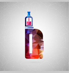 abstract creative concept icon of vape for vector image vector image