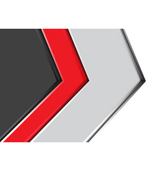 abstract red gray arrow design modern futuristic vector image vector image