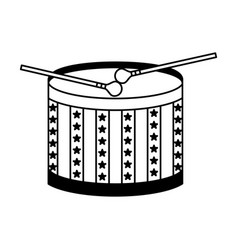 American drum isolated icon vector