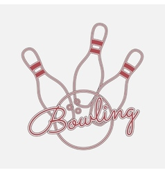 Bowling red Neon Logo vector image