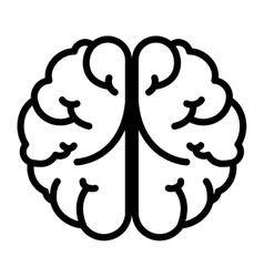 Brain head mind human organ vector