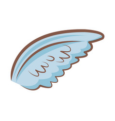 Cartoon wings feather angel cartoon vector