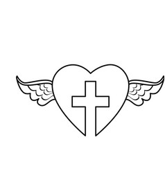 Christian cross symbol icon vector