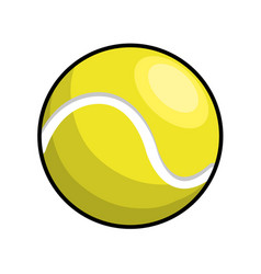 Color ball to play tennis icon vector