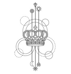 Crown abstrcat pattern vector