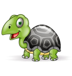 Cute Smile Turtle cartoon vector image