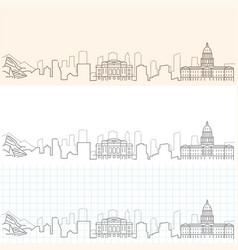 Denver hand drawn skyline vector